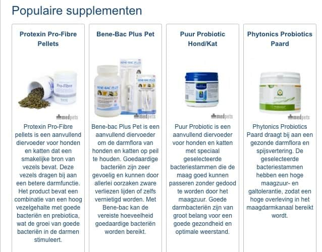 populaire supplementen voor katten